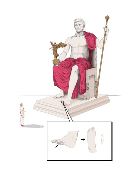 Il·lustració_hipotètica_de_l'estàtua_d'August_amb_detall_del_peu